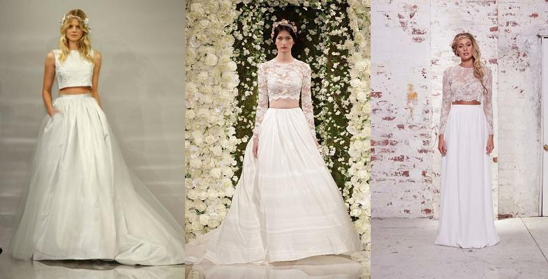 Cropped Top Wedding Gowns- The Runway Trend - Latest Fashion Updates ...